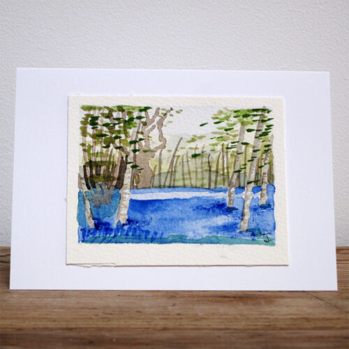Bluebell Forest - Original Watercolour Painting by Jessica Coote
