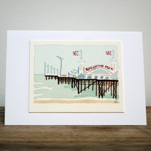 Brighton Pier - Original Watercolour Painting by Jessica Coote