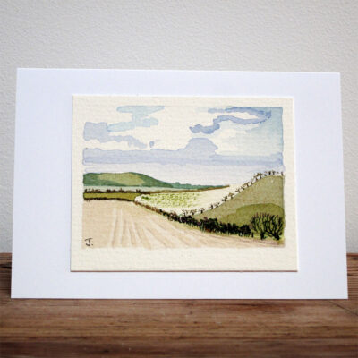 East Sussex View - Original Watercolour Painting by Jessica Coote