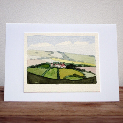 East Sussex Village - Original Watercolour Painting by Jessica Coote