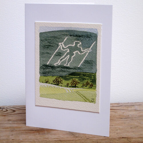 The Long Man of Wilmington - Original Watercolour Painting by Jessica Coote