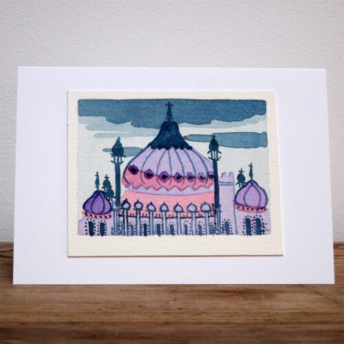 The Royal Pavilion at Night - Original Watercolour Painting by Jessica Coote