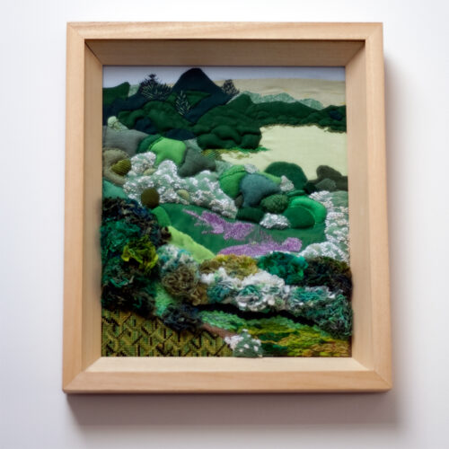 Valley Landscape Textile Embroidery by Jessica Coote