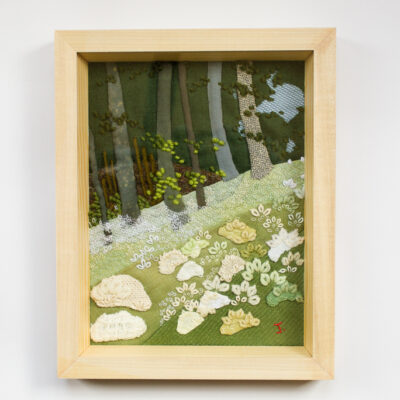 Forest – Hand Embroidered Landscape by Jessica Coote