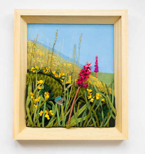 Wild Orchids – Hand Embroidered Landscape by Jessica Coote
