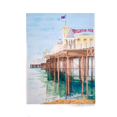 Brighton-Pier-Original-Watercolour-Painting-by-Jessica-Coote