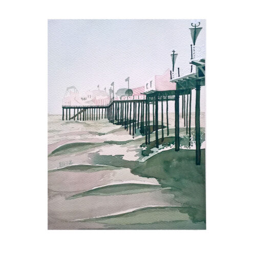 The-Pier-Soft-Original-Watercolour-Painting-by-Jessica-Coote